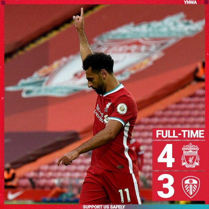 Download: Liverpool 4-3 Leeds Utd – EPL football highlight - Connectley News
