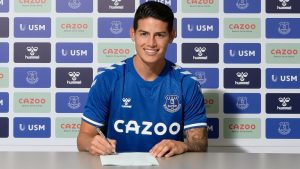 Everton Sign Colombian James Rodriguez From Real Madrid