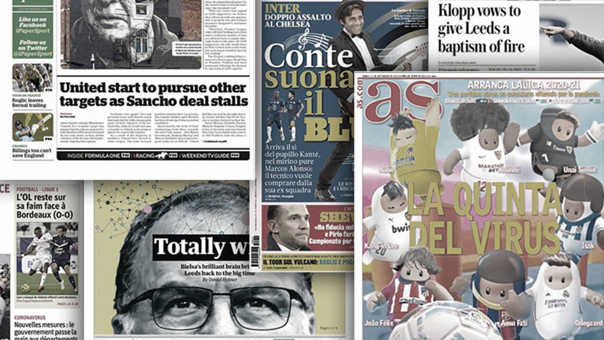 Today European football newspapers headlines, Saturday September 12, 2020 - Connectley News